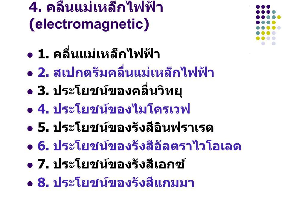 4. คลื่นแม่เหล็กไฟฟ้า (electromagnetic)