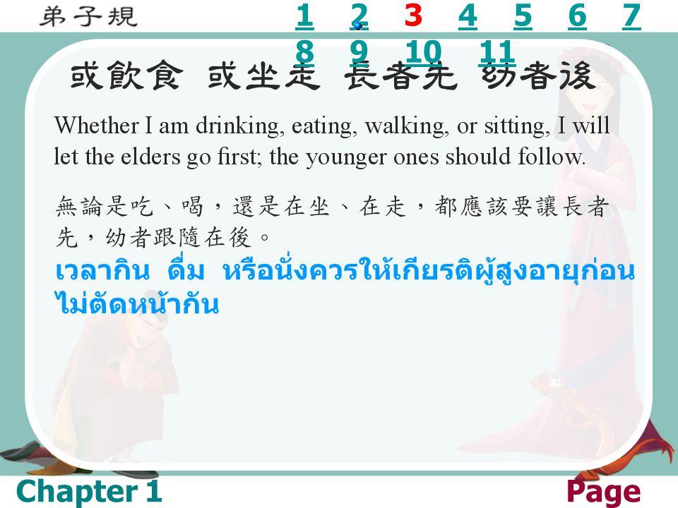 1 2 3 4 5 6 7 8 9 10 11 เวลากิน ดื่ม หรือนั่งควรให้เกียรติผู้สูงอายุก่อนไม่ตัดหน้ากัน.
