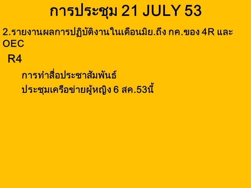 การประชุม 21 JULY 53 R4 การทำสื่อประชาสัมพันธ์