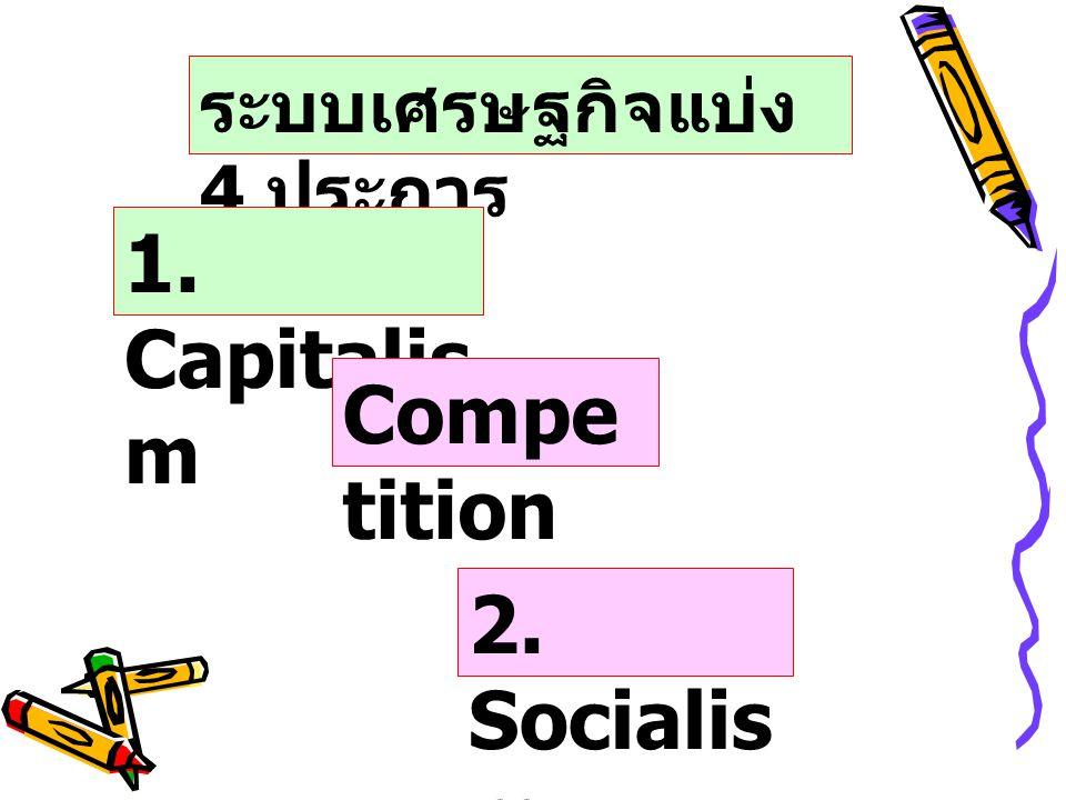 ระบบเศรษฐกิจแบ่ง 4 ประการ