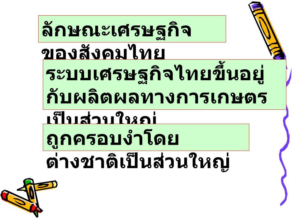 ลักษณะเศรษฐกิจของสังคมไทย