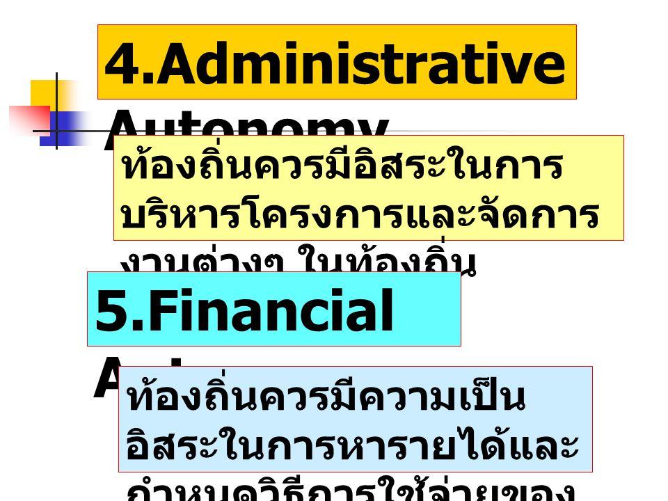 4.Administrative Autonomy
