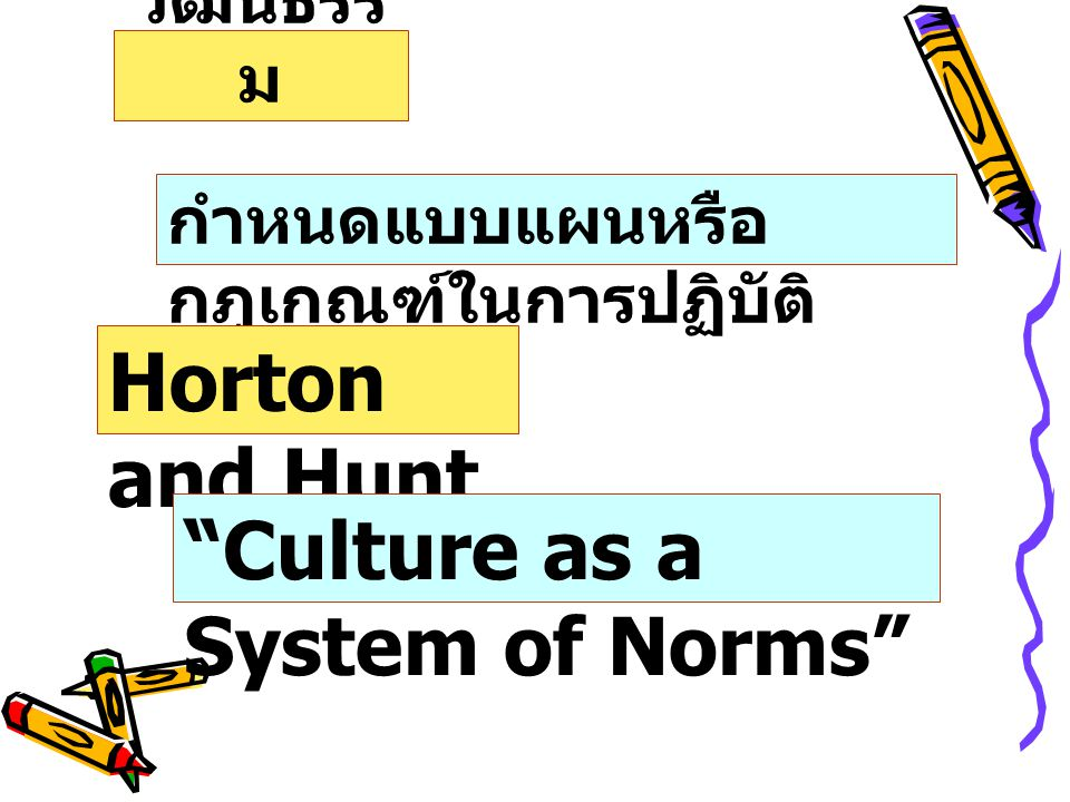 Culture as a System of Norms