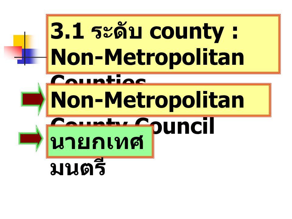 3.1 ระดับ county : Non-Metropolitan Counties