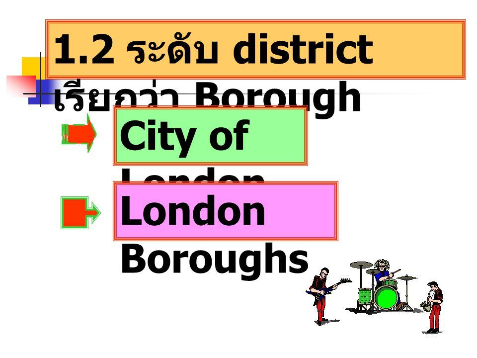 1.2 ระดับ district เรียกว่า Borough