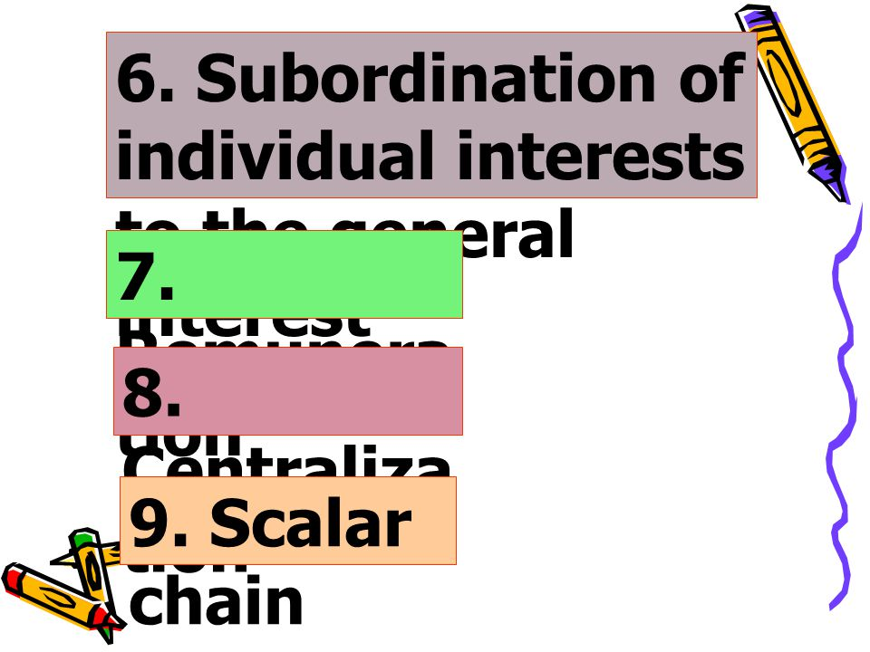 6. Subordination of individual interests to the general interest