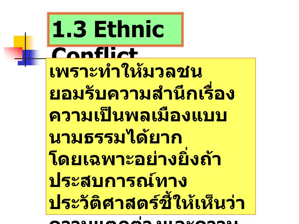 1.3 Ethnic Conflict