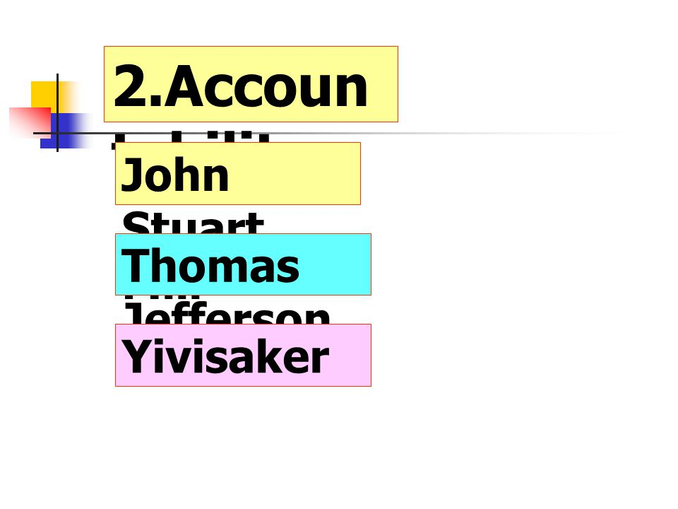 2.Accountability John Stuart Mill Thomas Jefferson Yivisaker