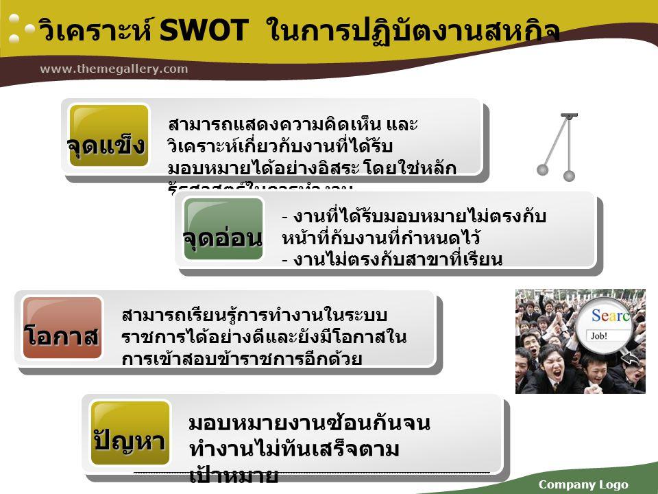 วิเคราะห์ SWOT ในการปฏิบัตงานสหกิจ
