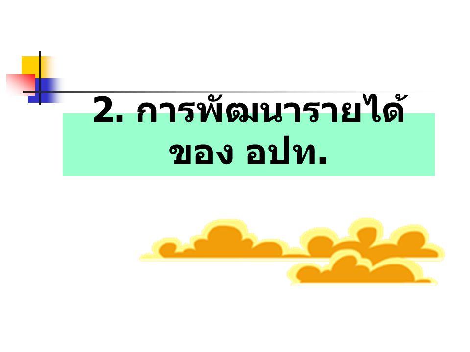 2. การพัฒนารายได้ของ อปท.