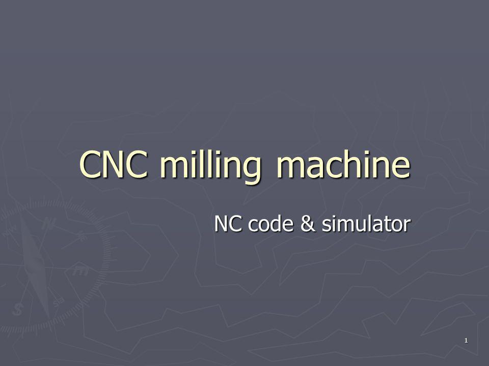 CNC milling machine NC code & simulator