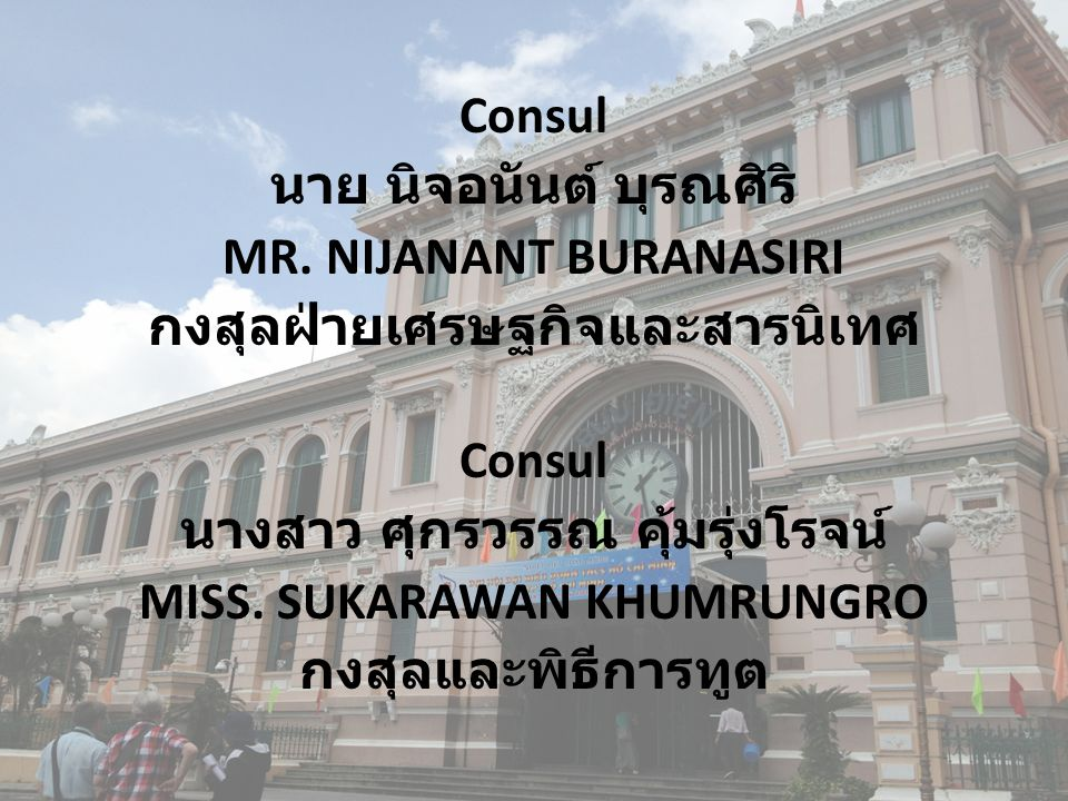 นาย นิจอนันต์ บุรณศิริ MR. NIJANANT BURANASIRI