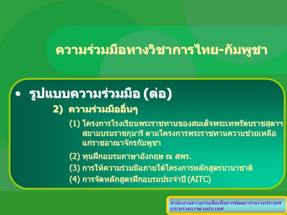ความร่วมมือทางวิชาการไทย-กัมพูชา