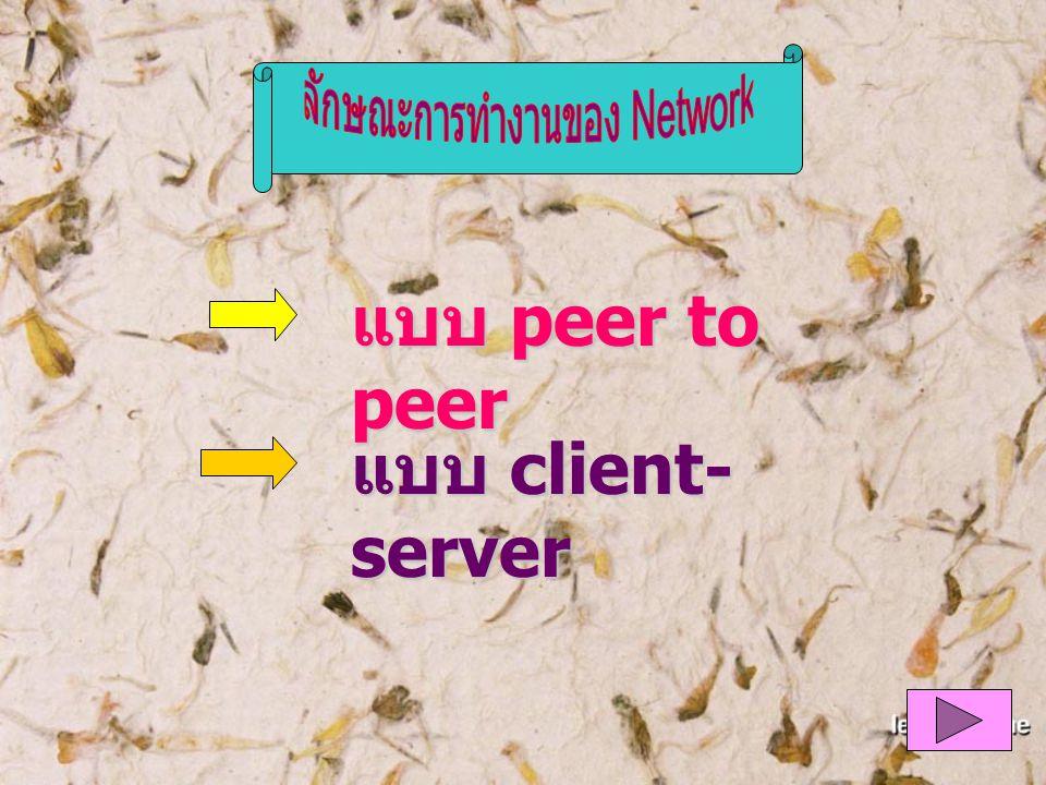 ลักษณะการทำงานของ Network