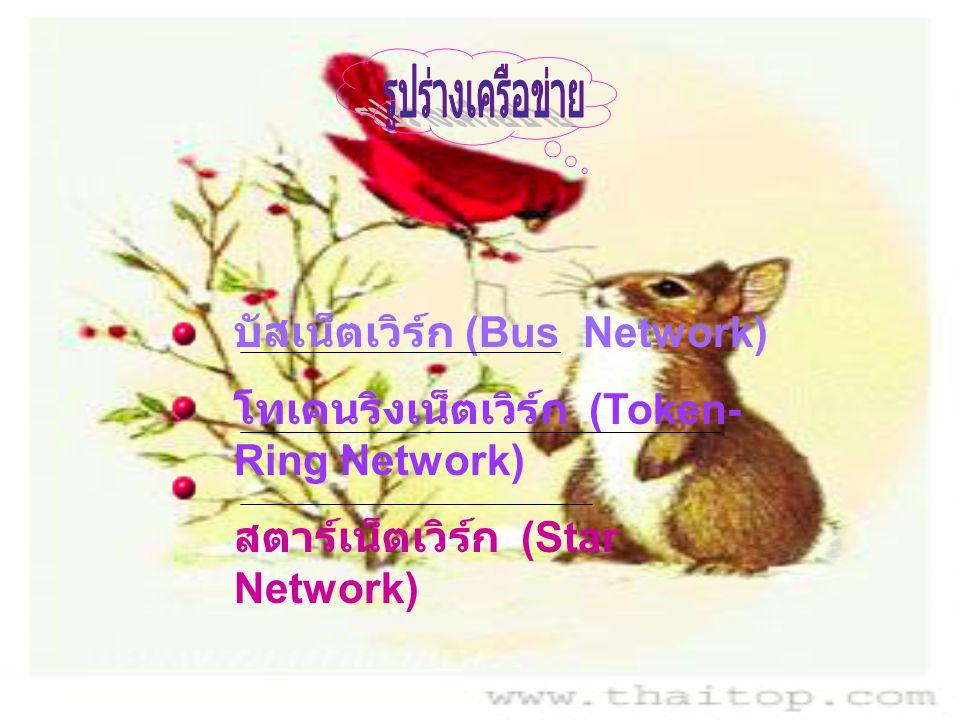 รูปร่างเครือข่าย บัสเน็ตเวิร์ก (Bus Network)