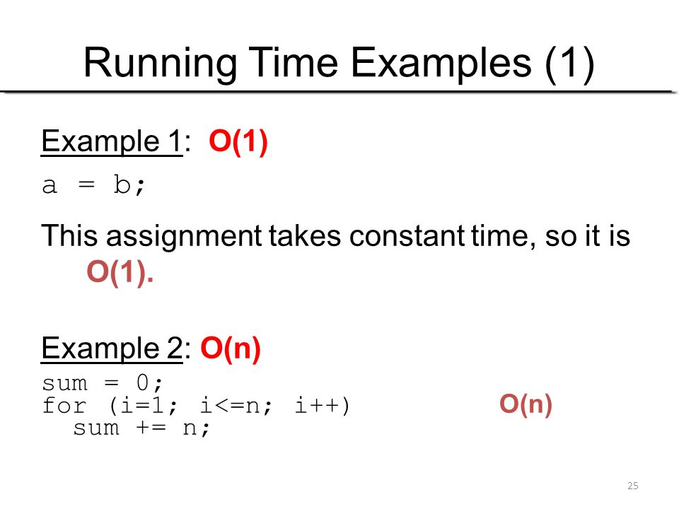 Running Time Examples (1)
