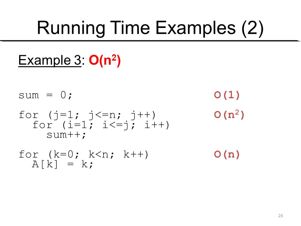 Running Time Examples (2)
