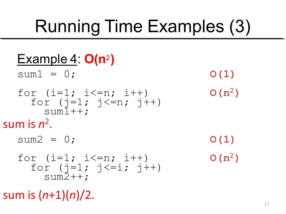 Running Time Examples (3)
