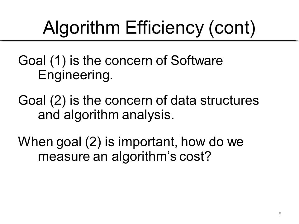 Algorithm Efficiency (cont)