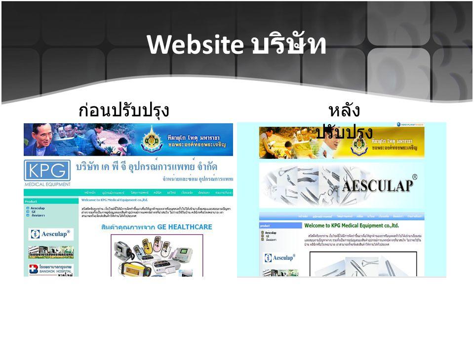 Website บริษัท ก่อนปรับปรุง หลังปรับปรุง