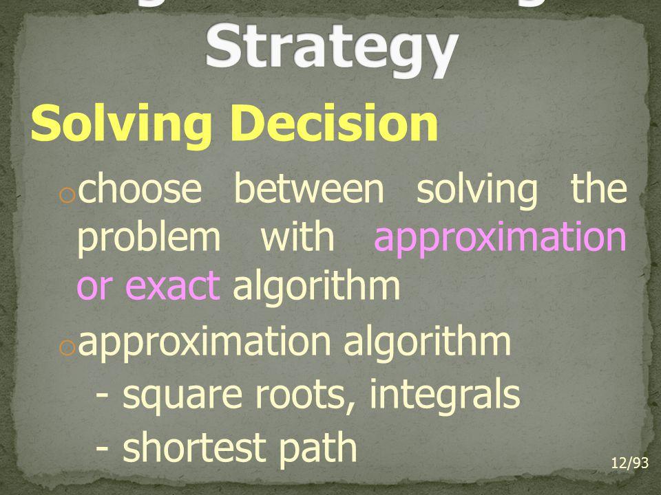 Algorithm Design Strategy