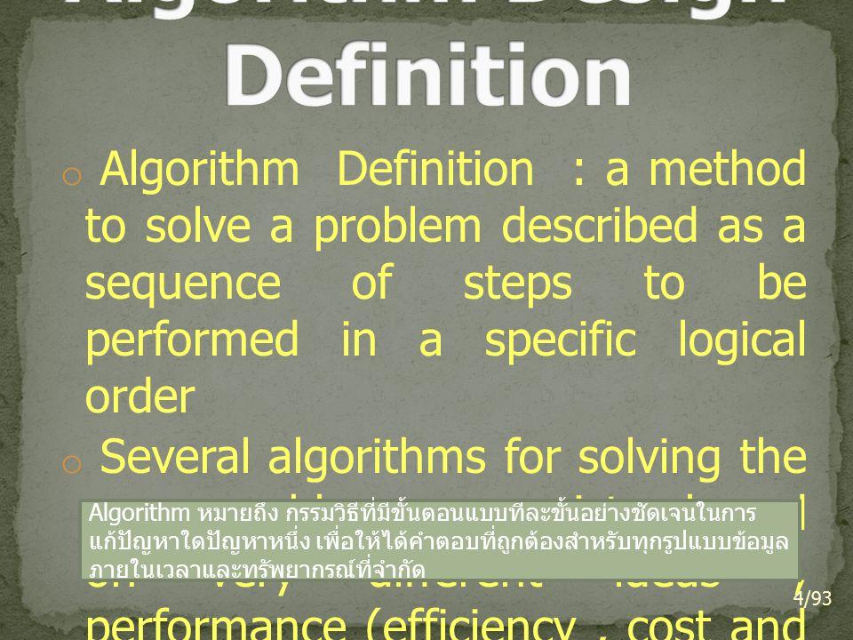 Algorithm Design Definition