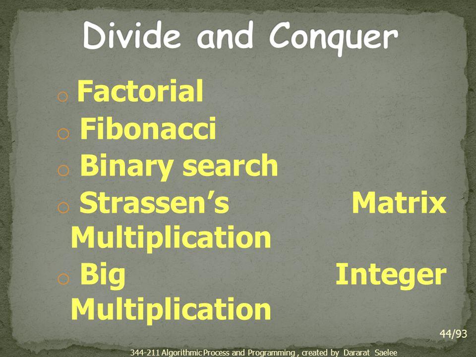 Divide and Conquer Fibonacci Binary search