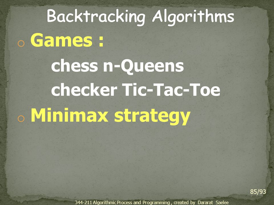 Backtracking Algorithms