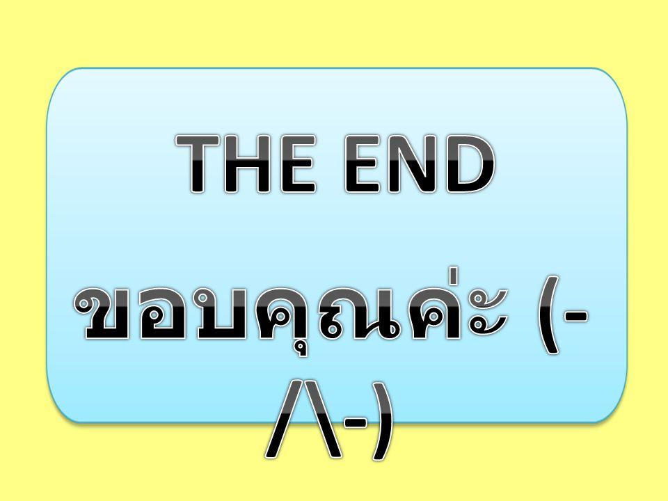 THE END ขอบคุณค่ะ (-/\-)