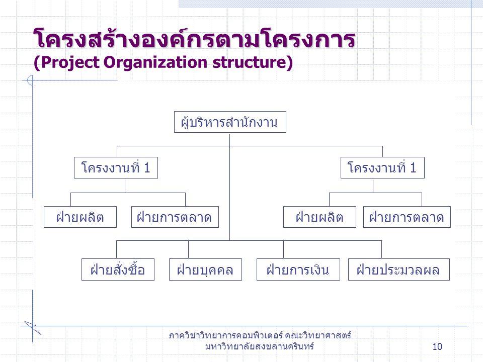 โครงสร้างองค์กรตามโครงการ (Project Organization structure)