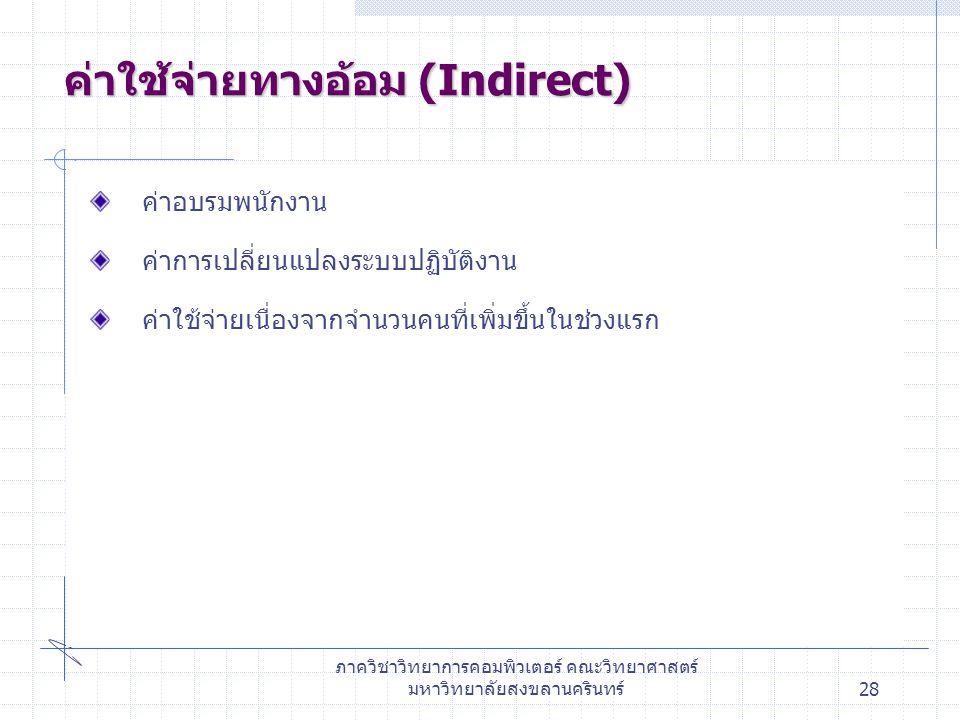 ค่าใช้จ่ายทางอ้อม (Indirect)