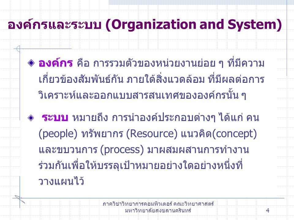 องค์กรและระบบ (Organization and System)