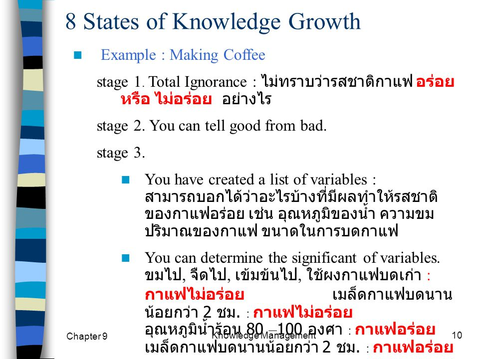 8 States of Knowledge Growth