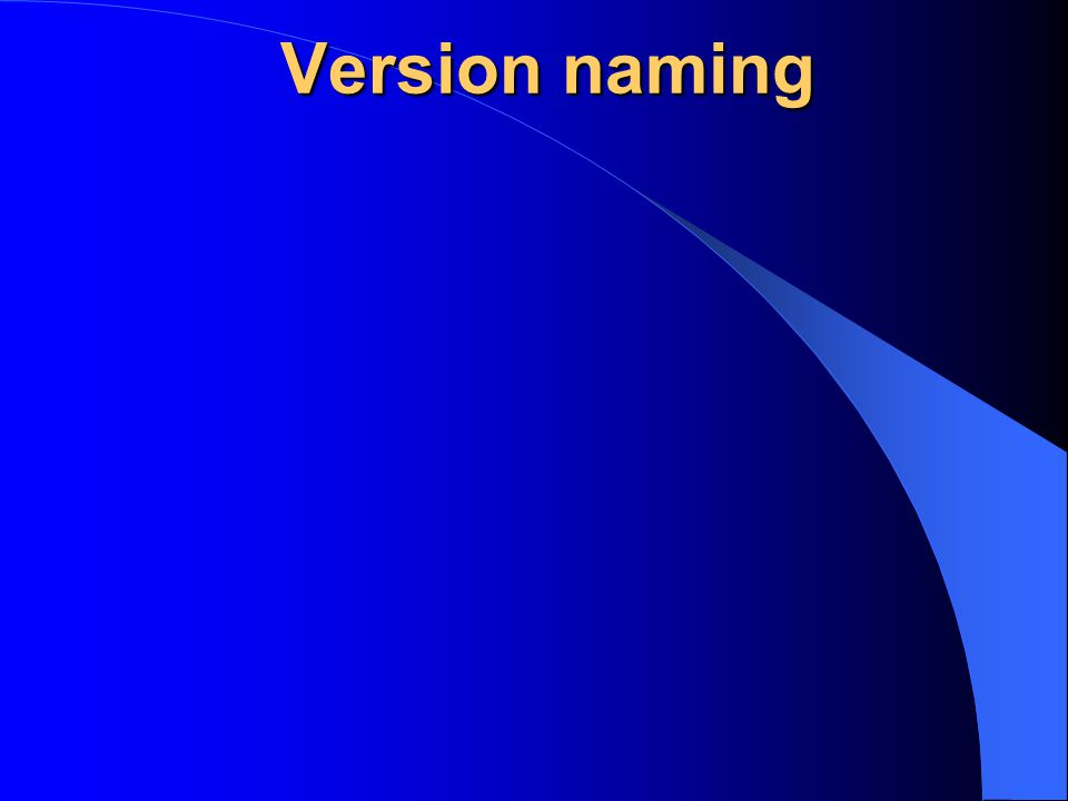 Version naming