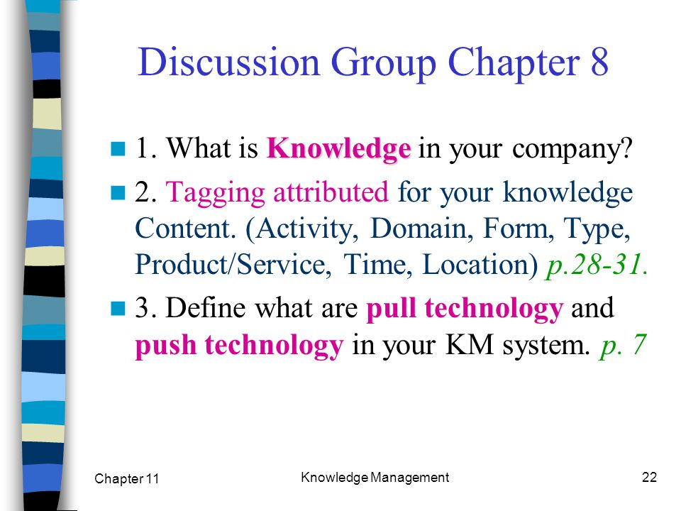 Discussion Group Chapter 8