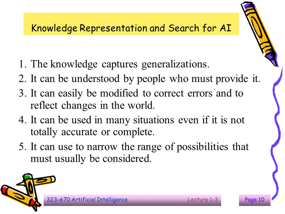 Knowledge Representation and Search for AI