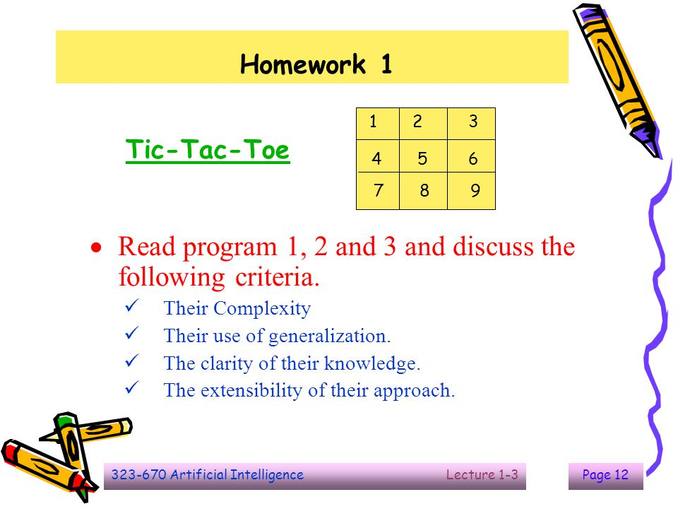 Read program 1, 2 and 3 and discuss the following criteria.