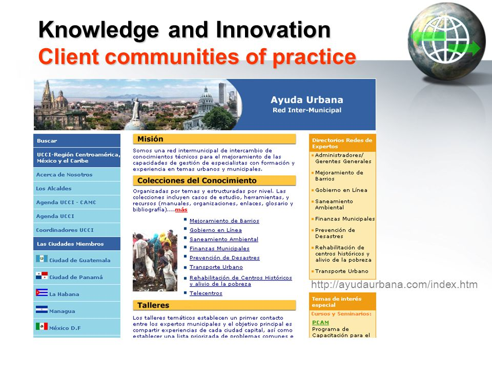 Knowledge and Innovation Client communities of practice