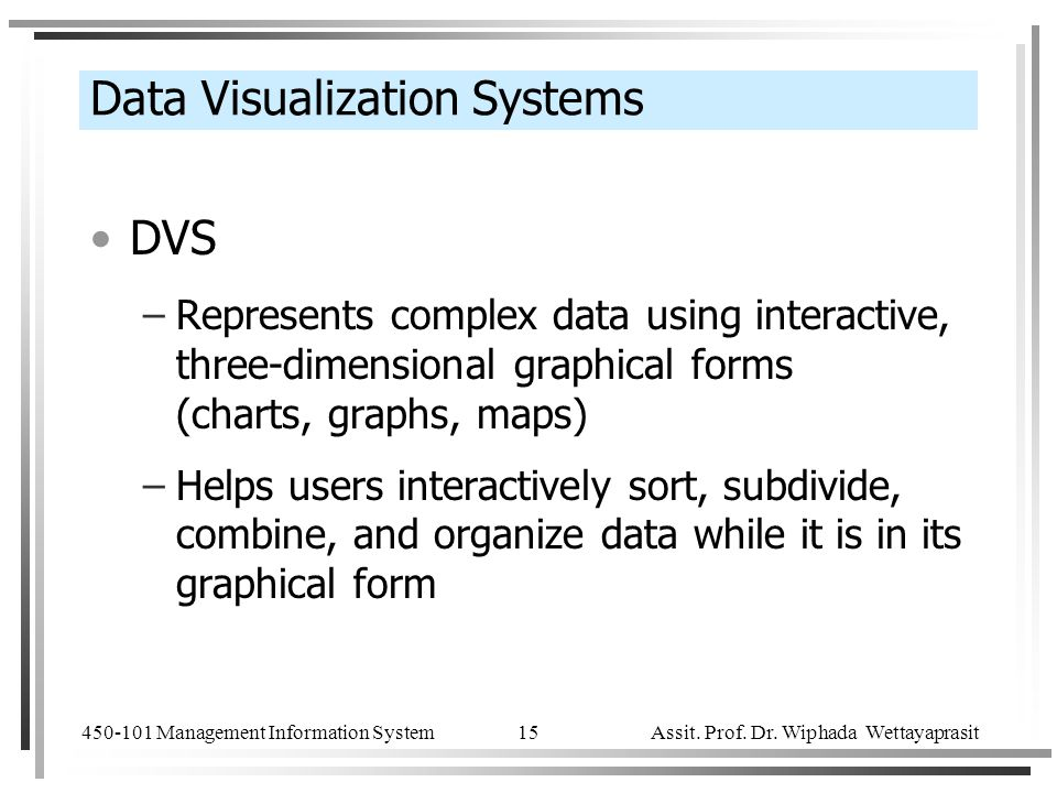 Data Visualization Systems