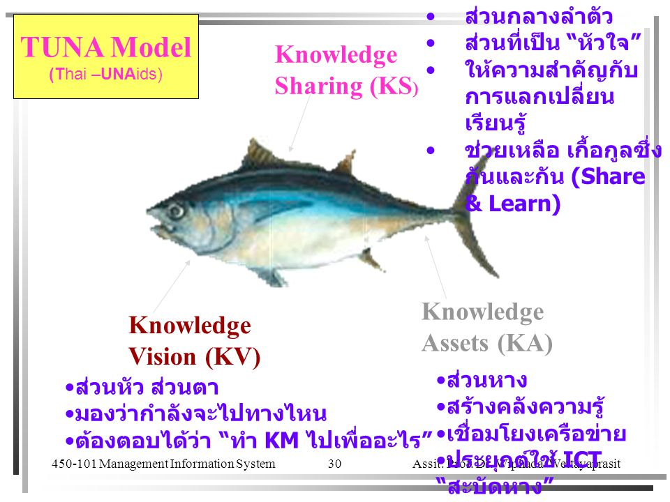 TUNA Model Knowledge Sharing (KS) Knowledge Knowledge Assets (KA)