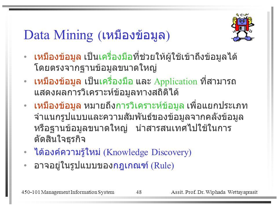 Data Mining (เหมืองข้อมูล)