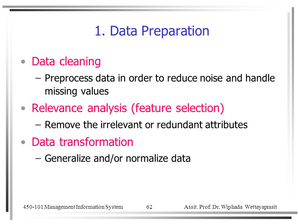 1. Data Preparation Data cleaning