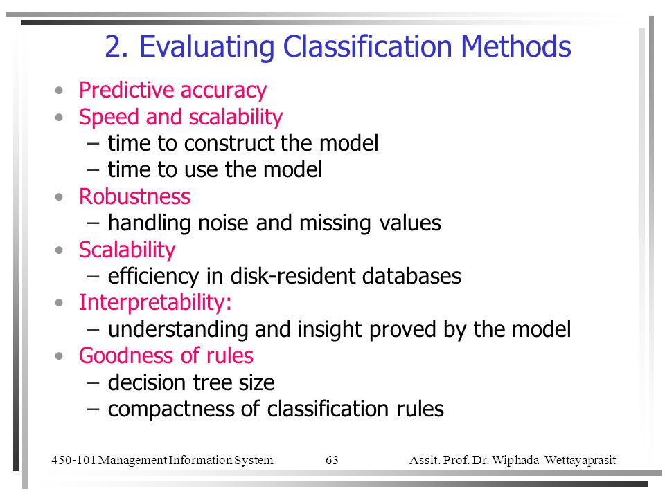 2. Evaluating Classification Methods