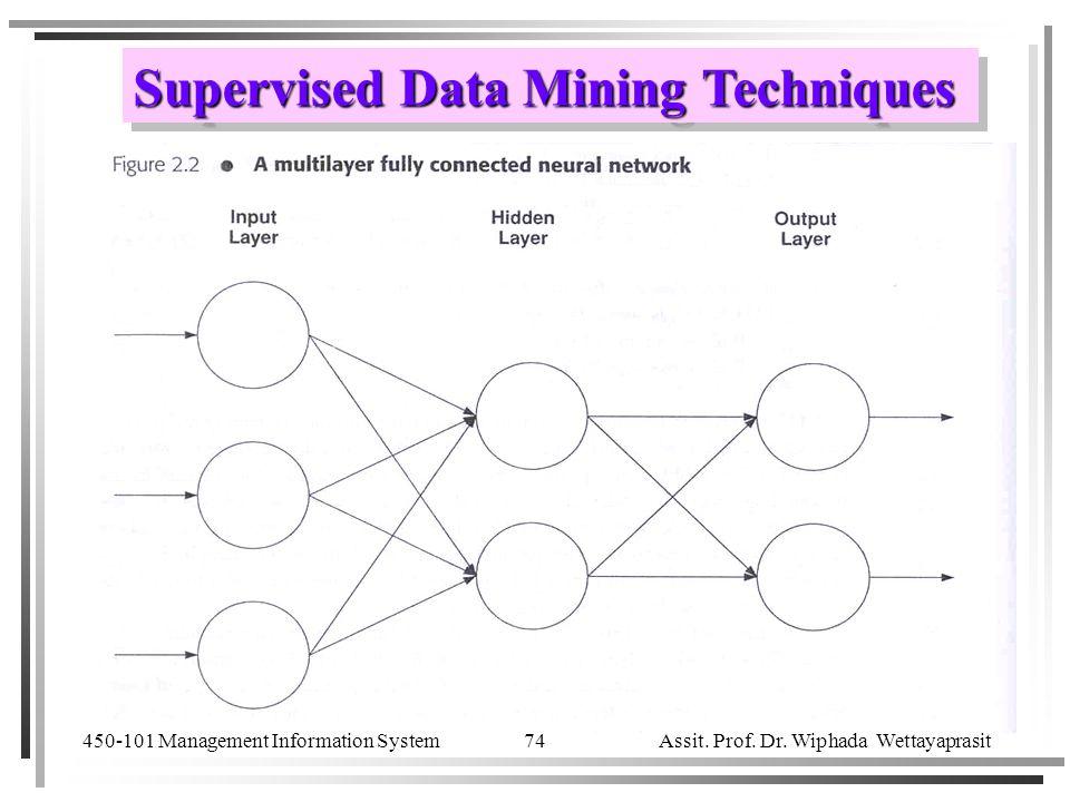 Supervised Data Mining Techniques