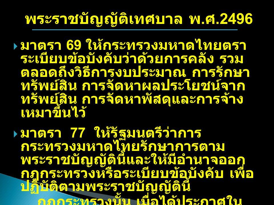 พระราชบัญญัติเทศบาล พ.ศ.2496