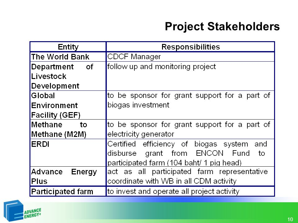Project Stakeholders 10