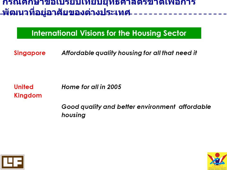 International Visions for the Housing Sector