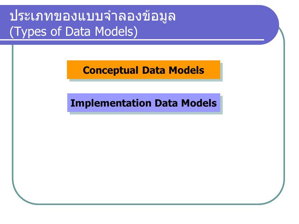ประเภทของแบบจำลองข้อมูล (Types of Data Models)