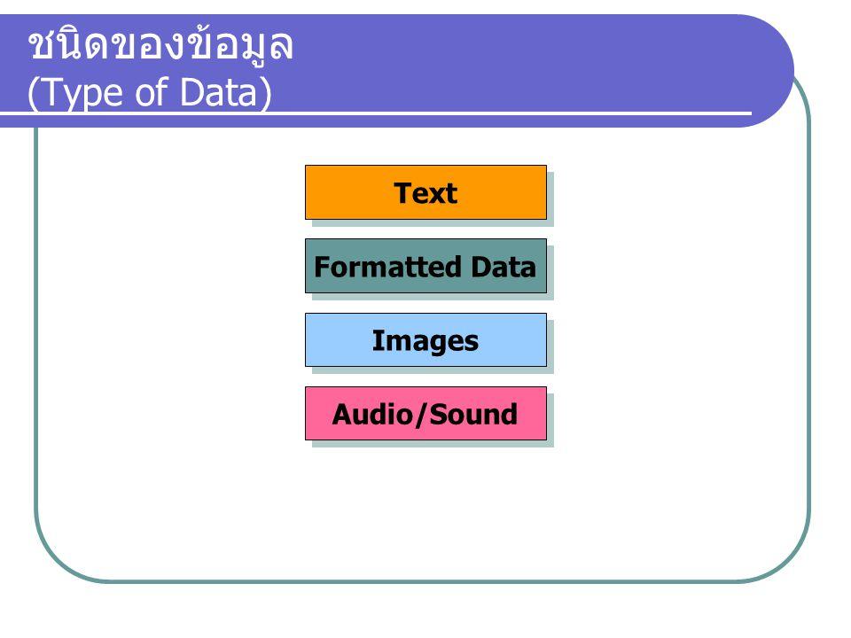 ชนิดของข้อมูล (Type of Data)