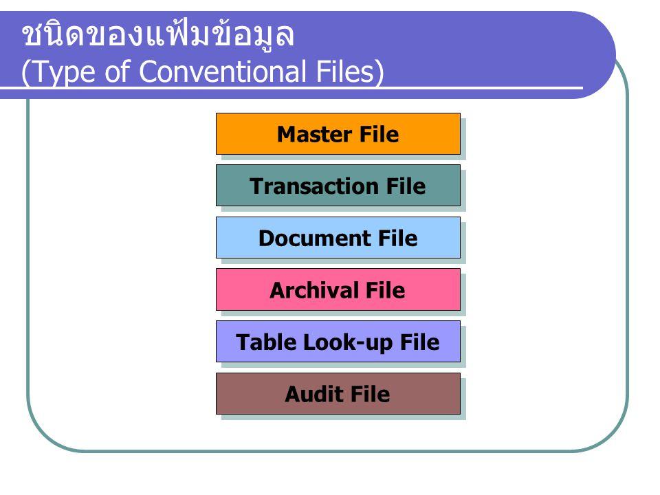 ชนิดของแฟ้มข้อมูล (Type of Conventional Files)